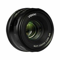 Voking 50mm F2.0 širokokutni objektiv za Nikon 1 mirrorless (VK50-2.0-N)
