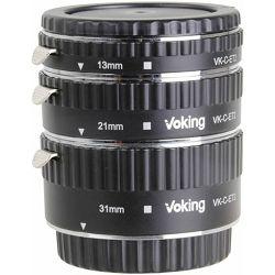 Voking macro prstenovi Auto fokus komplet za Canon DSLR 13mm, 21mm, 31mm (VKET3-C)