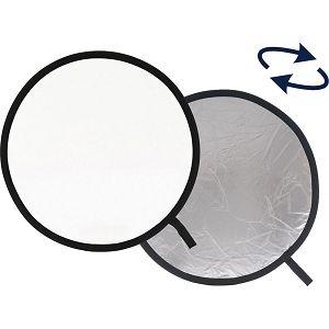 Weifeng dosvjetljivač 2u1 80cm bijeli srebreni disk reflektirajući