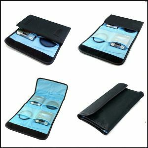 Weifeng torbica za filtere 4 filtera od 49-67mm crna