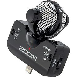 Zoom iQ5 Stereo Microphone for iOS Devices with Lightning Connector (Black) stereo mikrofon za iPhone iPad