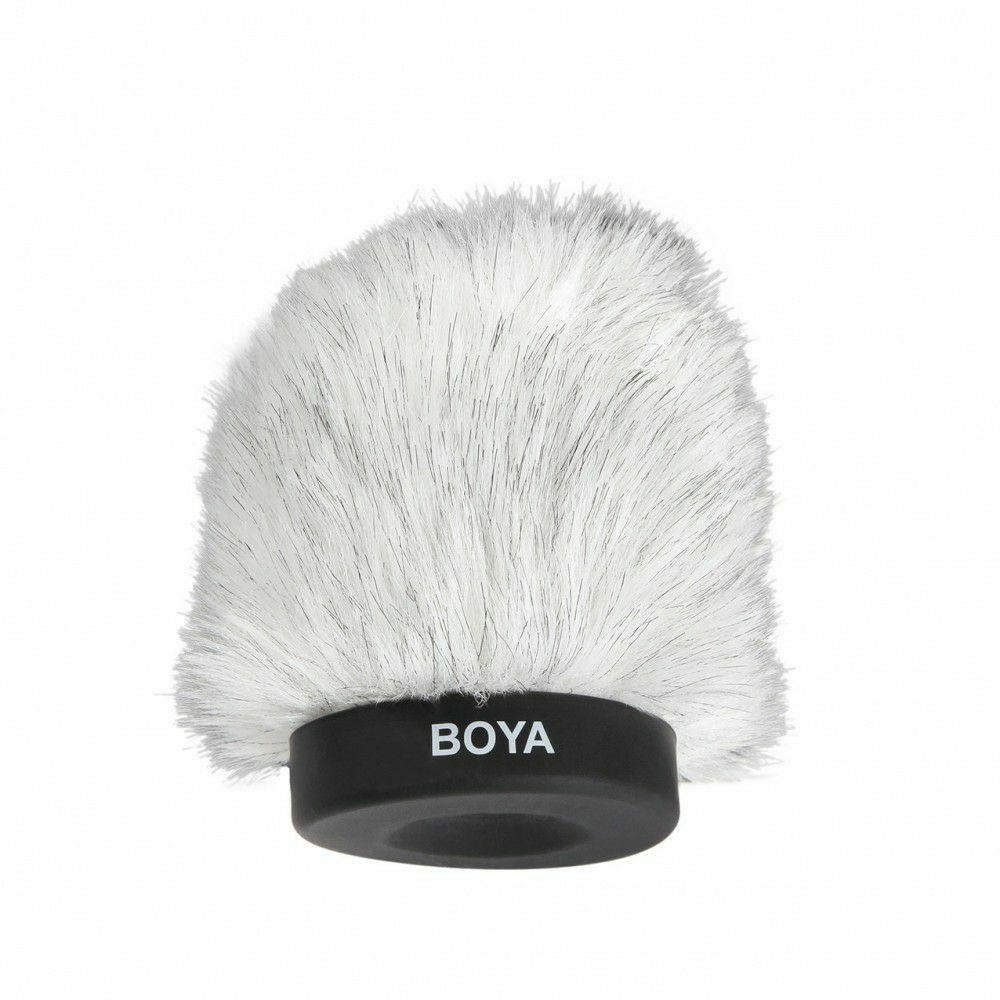 Boya BY-P80 Dead Cat Kitten Fluffy Windshield 80mm zaštita od vjetra za mikrofon Shotgun Capacitor Microphones