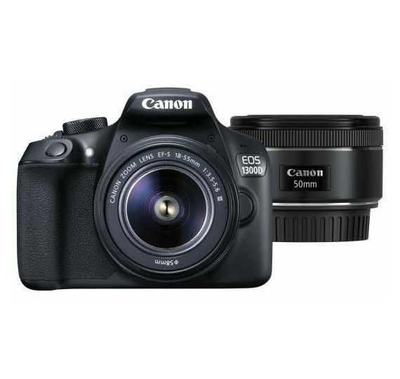 Canon EOS 1300D 18-55 DC III + 50mm 1 8 STM DSLR digitalni