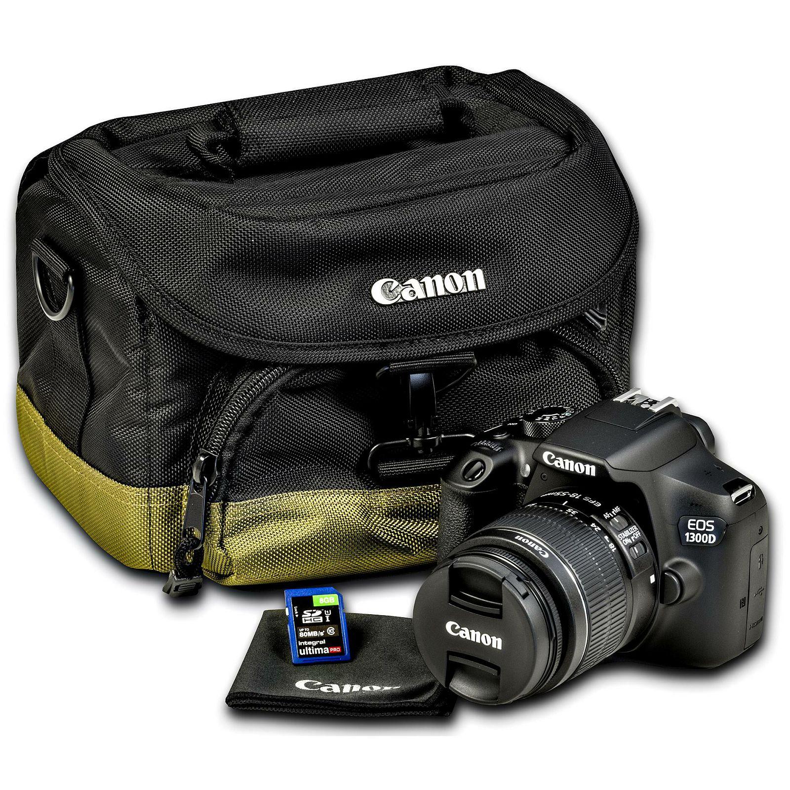Canon Eos 1300d 18 55 Is 100eg 8gb Kit Dslr Digitalni Iii Fotoaparat Objektiv Ef S 55mm F35 56 Torba I Memorijska Kartica 1160c064aa