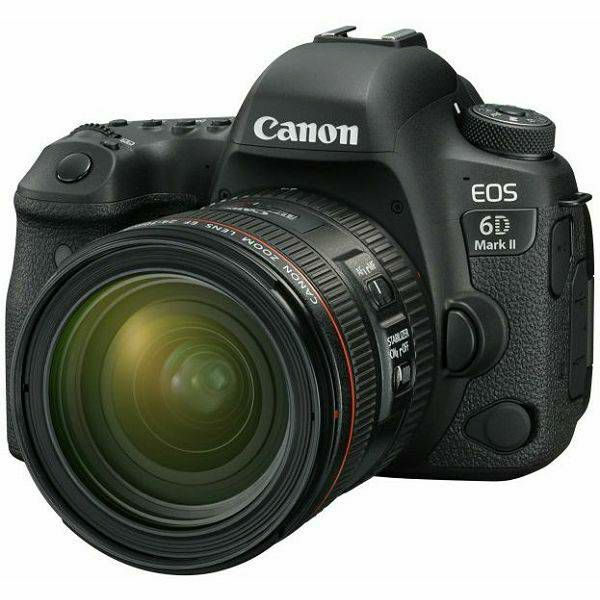 Canon EOS 6D Mark II + 24-70 f/4L IS USM DSLR Full Frame Digitalni fotoaparat i standardni zoom objektiv 6D II EF 24-70mm F4.0 (1897C015AA) - GETREADY
