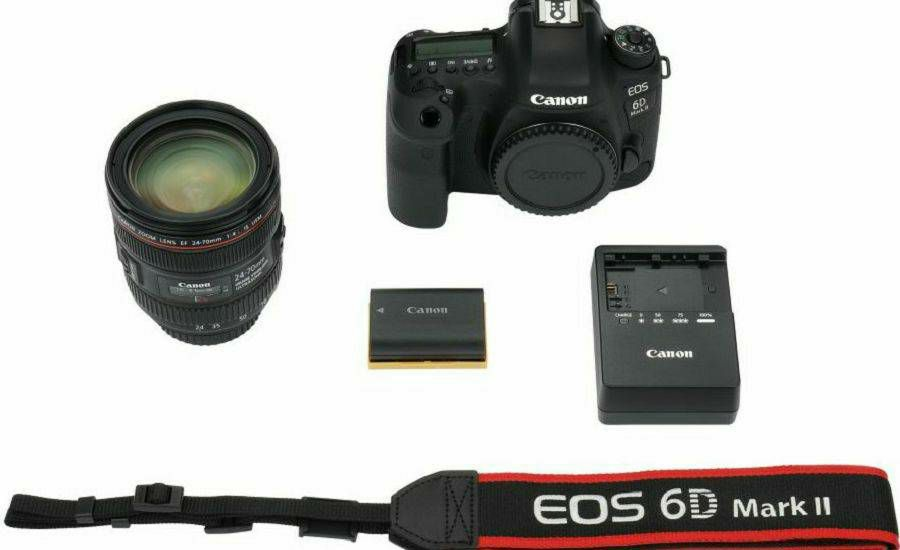 Canon EOS 6D Mark II + 24-70 f/4L IS USM DSLR Full Frame Digitalni ...