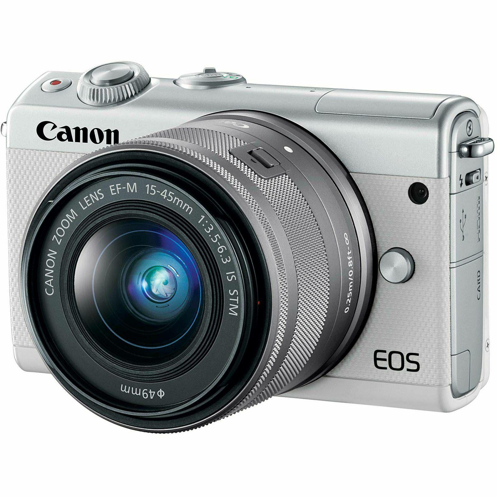 Canon EOS M100 + 15-45 IS STM + 22mm STM White Mirrorless Digitalni fotoaparat EF-M 15-45mm 3.5-6.3 i EF-M 22mm f/2 F2 F2.0 (2210C032AA) - CASH BACK promocija povrat novca u iznosu 300 kn