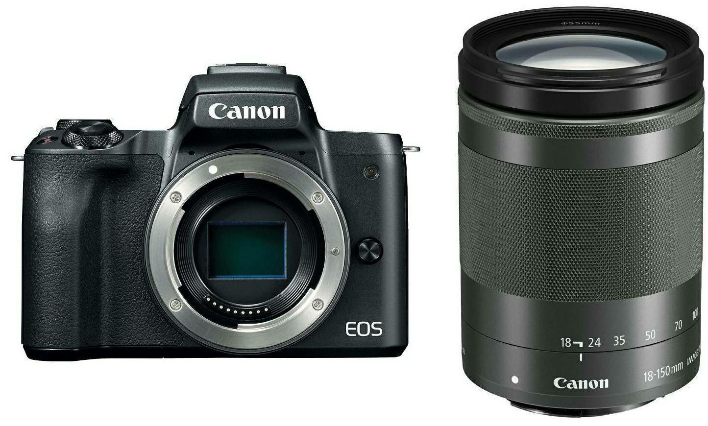 Canon EOS M50 + 18-150 IS STM Black Mirrorless Digital