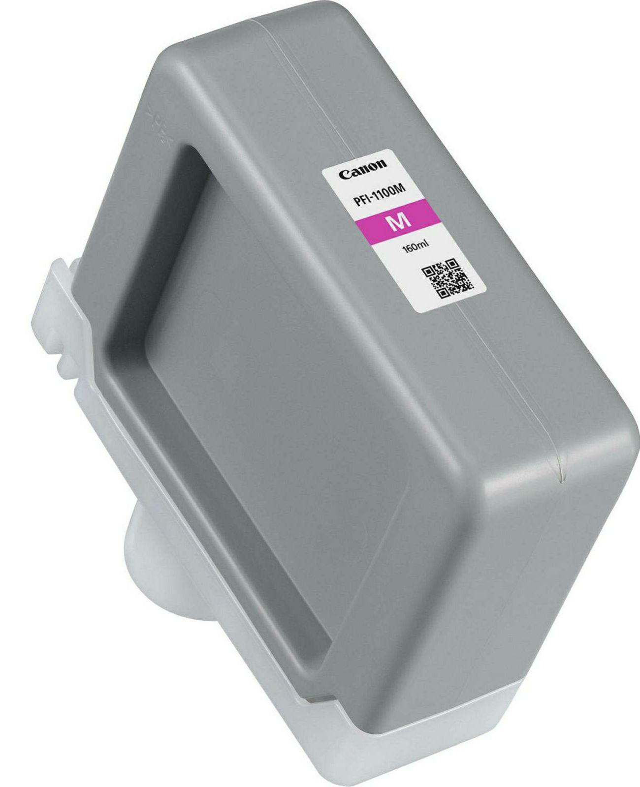 Canon Pigment Ink Tank PFI-1100 Magenta 160ml PFI1100M purpurnocrvena tinta za ploter imagePROGRAF PRO-2000, PRO-4000, PRO-4000S, PRO-6000, PRO-6000S Large-Format Printers (0852C001AA)
