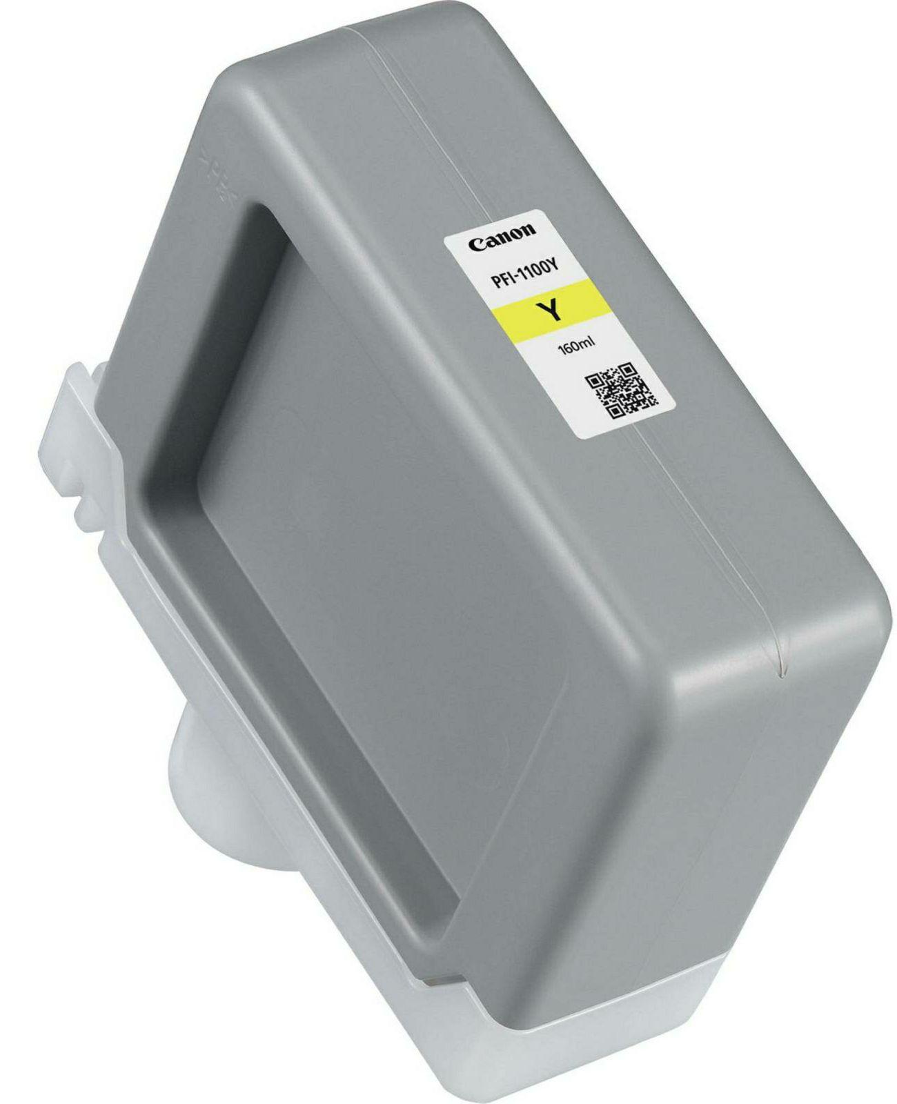 Canon Pigment Ink Tank PFI-1100 Yellow 160ml PFI1100Y žuta tinta za ploter imagePROGRAF PRO-2000, PRO-4000, PRO-4000S, PRO-6000, PRO-6000S Large-Format Printers (0853C001AA)