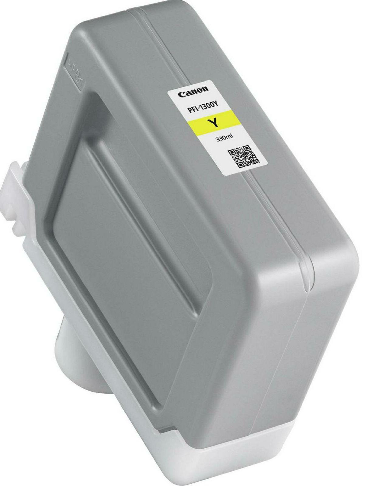 Canon Pigment Ink Tank PFI-1300 Yellow 330ml PFI1300Y žuta tinta za ploter imagePROGRAF PRO-2000, PRO-4000, PRO-4000S, PRO-6000, PRO-6000S Large-Format Printers (0814C001AA)