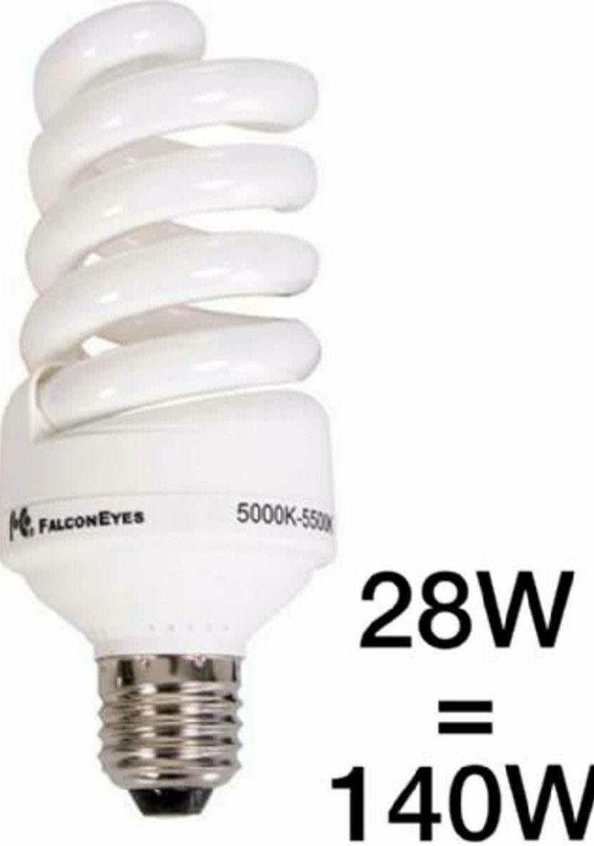 Falcon Eyes Daylight Lamp 28W E27 ML-28 studijska spiralna lampa žarulja za kontinuiranu video foto rasvjetu