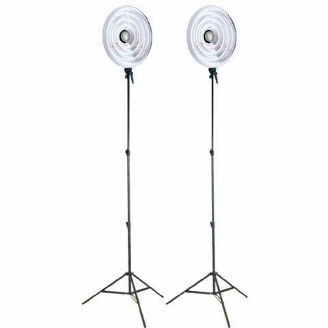 Falcon Eyes Ring Lamp Set RFL-3 with Light Stand komplet 2x RFL-3 + 2x W806 kontinuirana fluo kružna rasvjeta