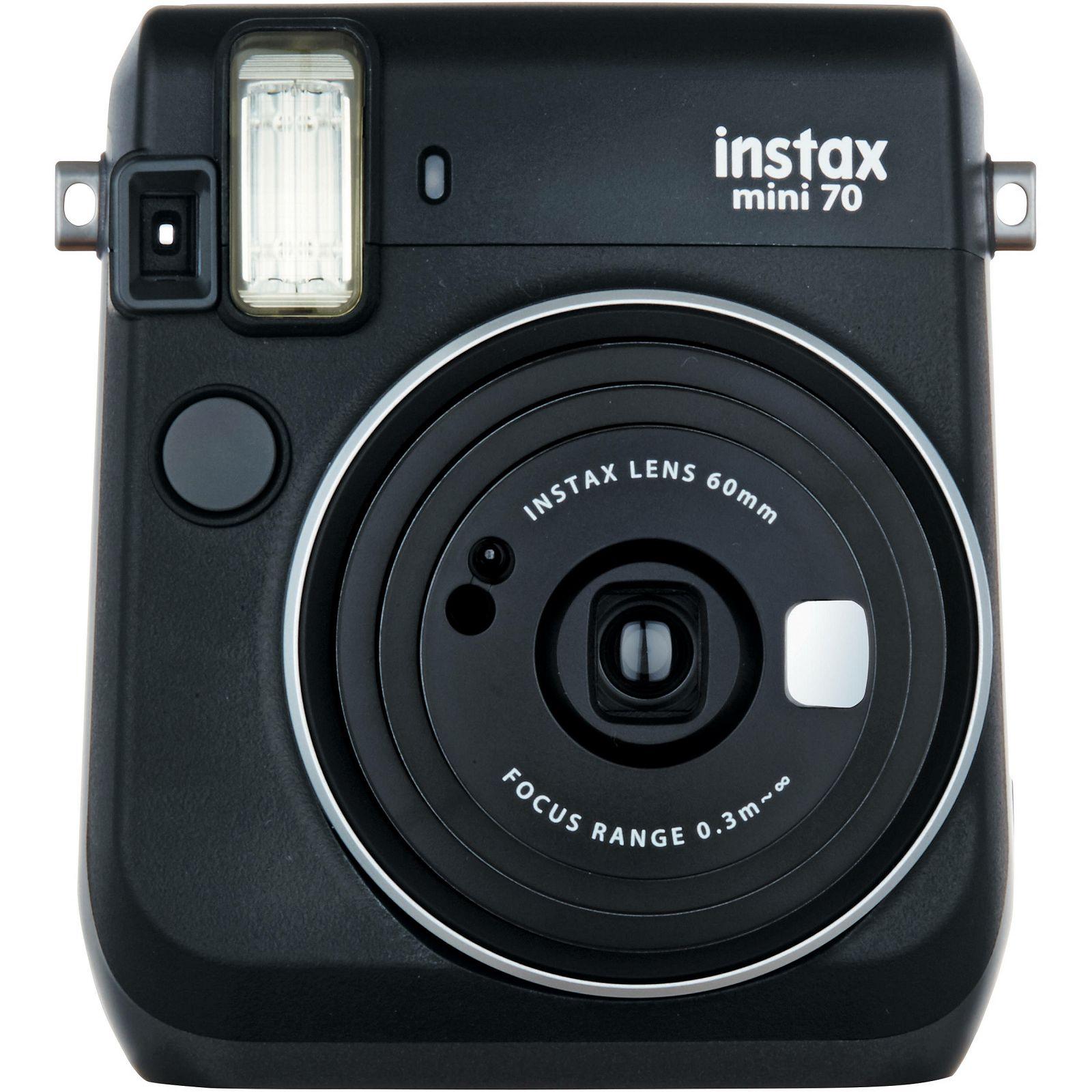 Fujifilm Instax mini 70 Instant Film Camera (Black) Crni Fuji polaroidni fotoaparat s trenutnim ispisom fotografije