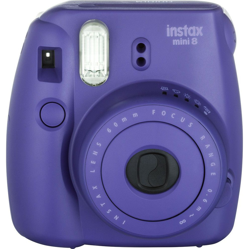 fujifilm instax mini 8 polaroid fuji ljubi asti purple instant film camera. Black Bedroom Furniture Sets. Home Design Ideas