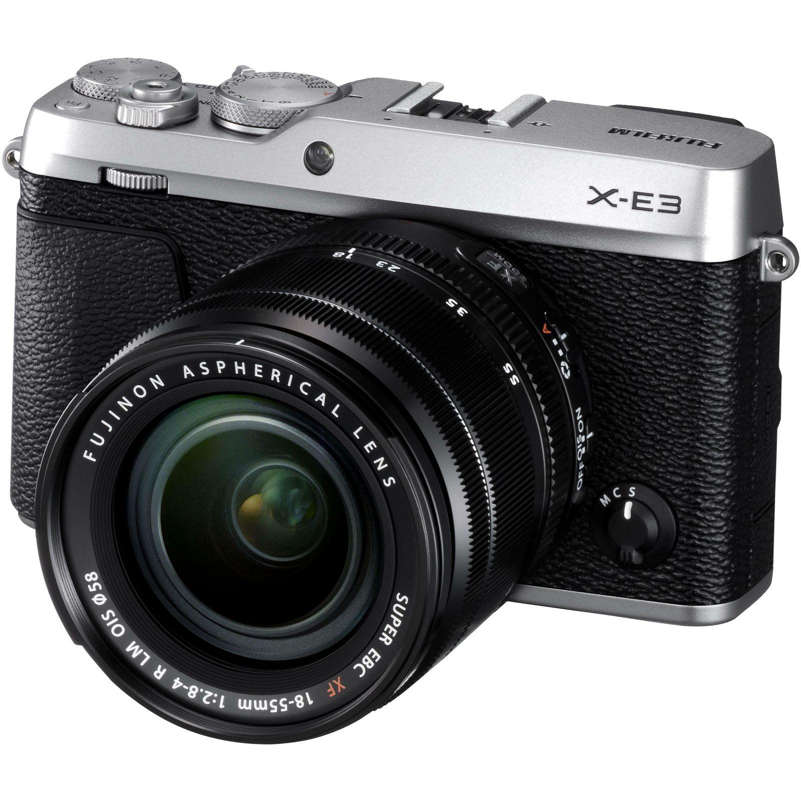 Fujifilm X-E3 + XF 18-55 EE KIT Silver srebreni Digitalni fotoaparat s objektivom XF18-55mm Mirrorless camera Fuji Finepix XE3