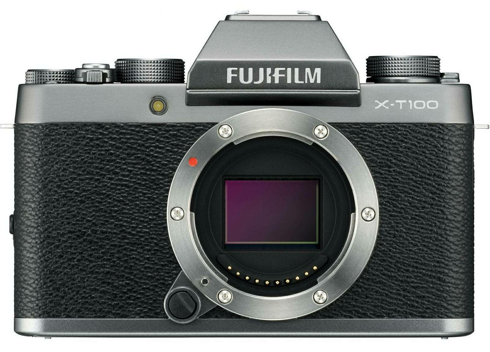 Fujifilm X-T100 Body Dark Silver tamno srebreni Digitalni fotoaparat Mirrorless camera Fuji Finepix 24MP APS-C CMOS 3.0