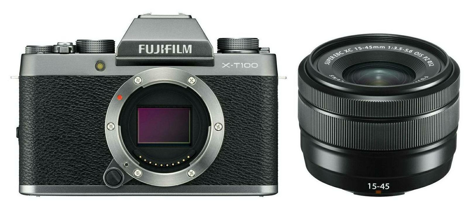 Fujifilm X-T100 + XC 15-45 f/3.5-5.6 OIS PZ KIT Dark Silver tamno srebreni digitalni mirrorless fotoaparat s objektivom 15-45mm Fuji