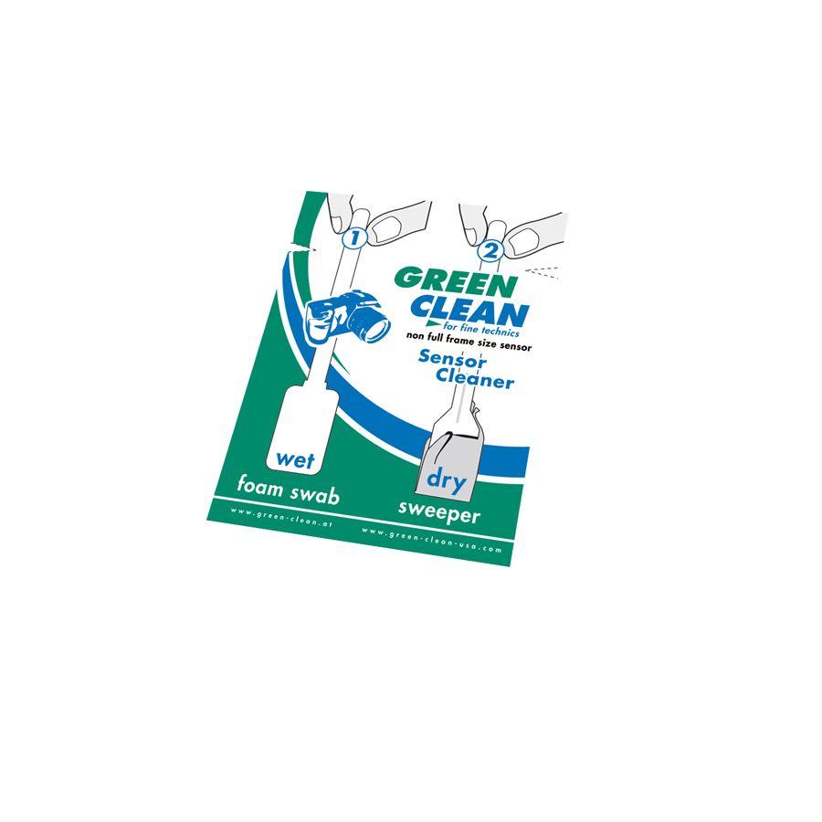 Green Clean Wet-Foam Swab & Dry-Sweeper non full frame size SC-4070  za čišćenje senzora DSLR FF