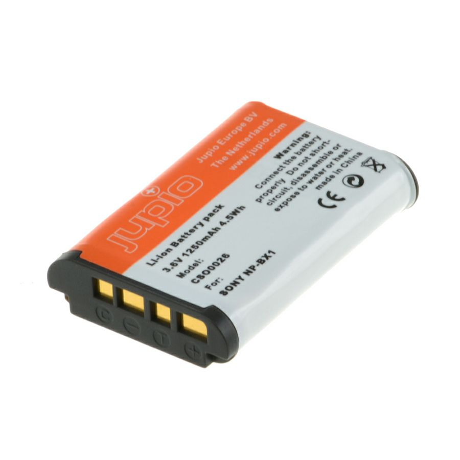 Jupio NP-BX1 1250mAh 3.6V baterija za Sony CyberShot DSC-HX300 DSC-HX400 DSC-HX50V DSC-HX60 DSC-HX90 DSC-H400 DSC-RX1 DSC-RX1R, DSC-RX100 DSC-RX100 III DSC-RX100M4 DSC-WX300 RX100 DSC-RX100 II III IV