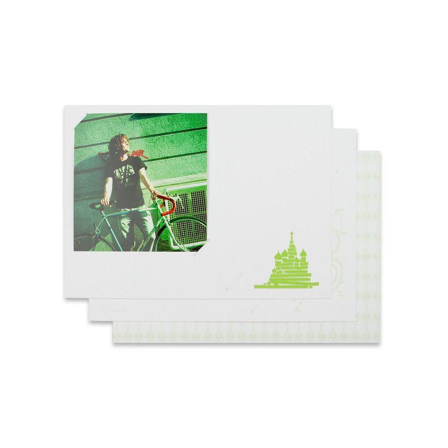 Lomography Freundschaftskarten - Square 1 (green) d930sq1 stationary