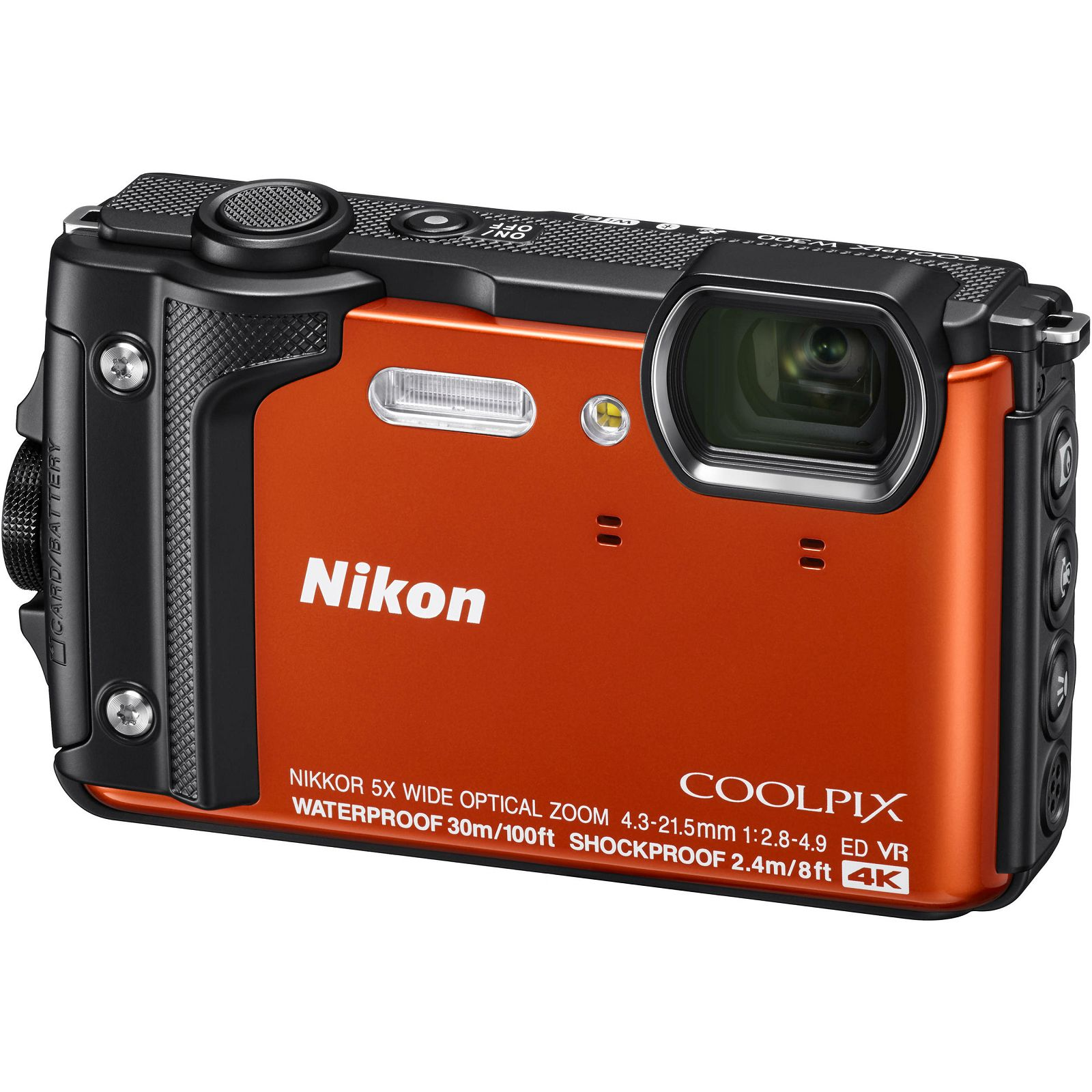 Nikon Coolpix W300 Orange narančasti digitalni kompaktni vodootporni fotoaparat 16MPx 4K UHD 5x zoom (VQA071E1) - TRENUTNA UŠTEDA