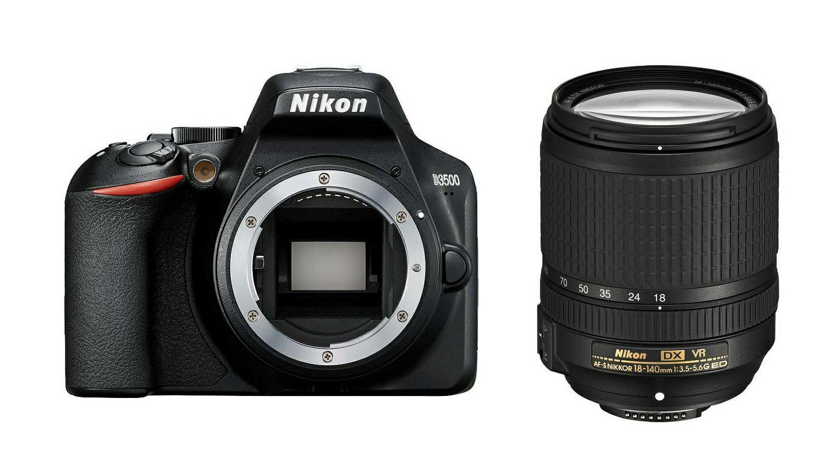 Nikon D3500 Af S 18 140 F35 56g Ed Vr Dx Kit Dslr Digitalni Fotoaparat I Objektiv Nikkor 18 140mm Vba550k004 Trenutna Ušteda
