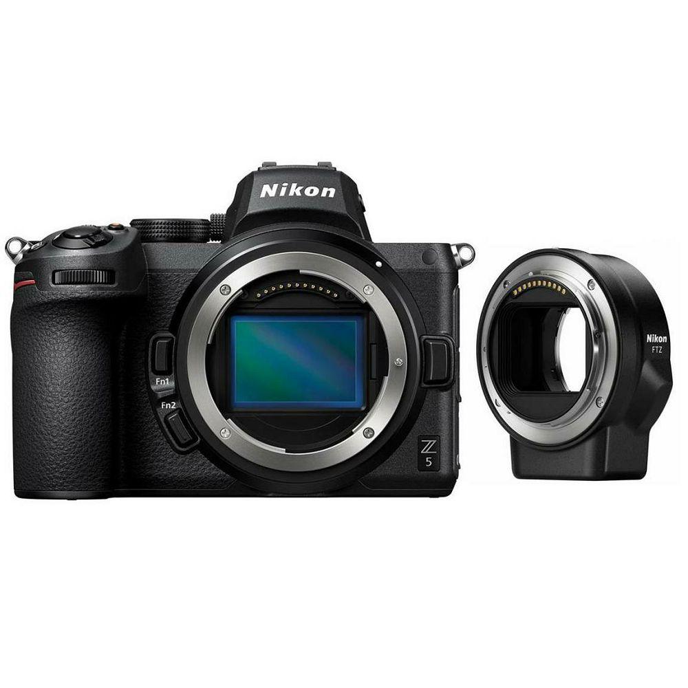 Nikon Z5 Body + FTZ Adapter Kit Mirrorless Digital Camera bezrcalni digitalni fotoaparat tijelo s adapterom (VOA040K002)