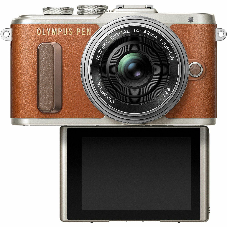 Olympus E Pl8 14 42mm Brown Pancake Zoom Kit Brn Slv Mzuiko Digital Ed 12 50mm F35 63 Ez Lens Smei