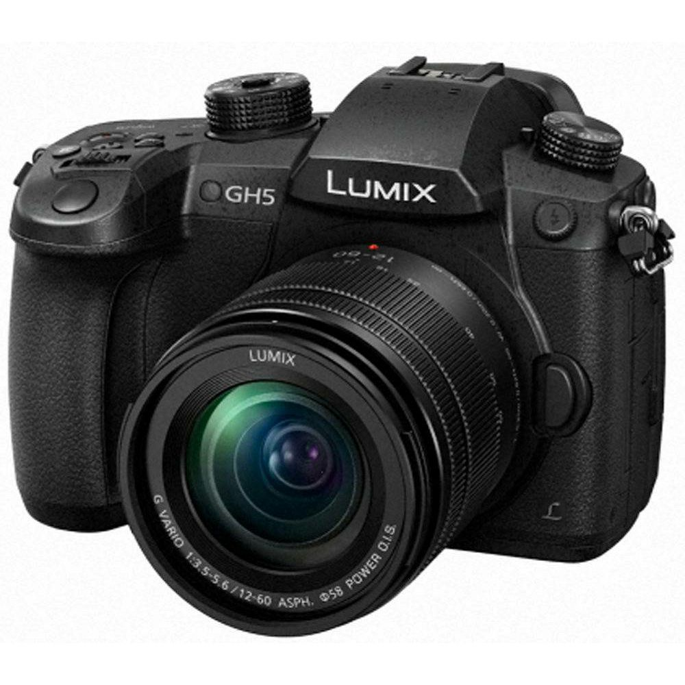 Panasonic Lumix GH5 + 12-60mm f/3.5-5.6 Asph Power O.I.S. 4K Mirrorless bezrcalni digitalni fotoaparat DC-GH5 s objektivom G Vario 12-60 Micro Four Thirds Digital Camera (DC-GH5MEG-K) - Q4PROMO