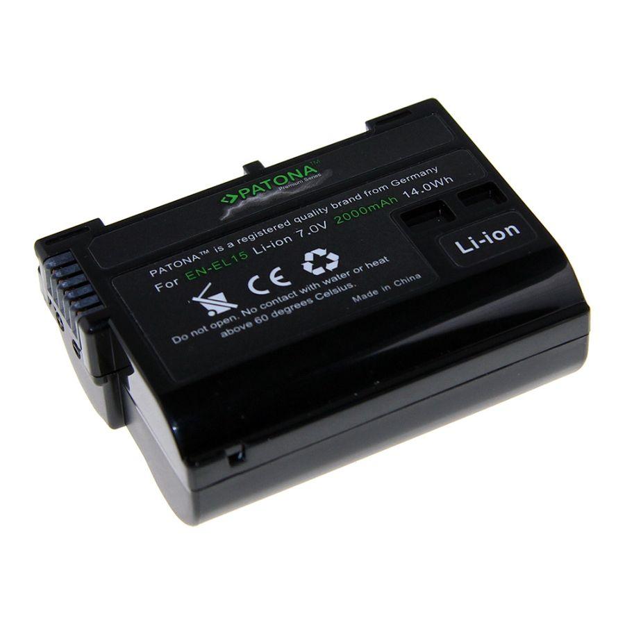 Patona EN-EL15 Premium baterija za Nikon D750, D500, D810, D610, D600, D7200, D7100, D7000, D800, D810A, D800E, 1 V1
