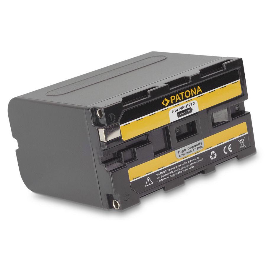 Patona NP-F970 6600mAh 7.2V baterija za Sony, Atomos, Aputure s NP-Fxxx prihvatom NP-F330, NP-F530, NP-F550, NP-F730, NP-F750, NP-F770, NP-F750SP, NP-F930, NP-F950, NP-F960, NP-F970, NP-F975, NP-F990