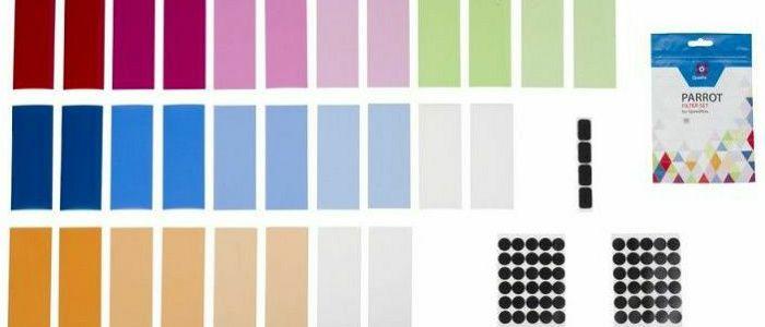 Quadralite Parrot komplet photogel set 30 gel filtera za bljeskalice