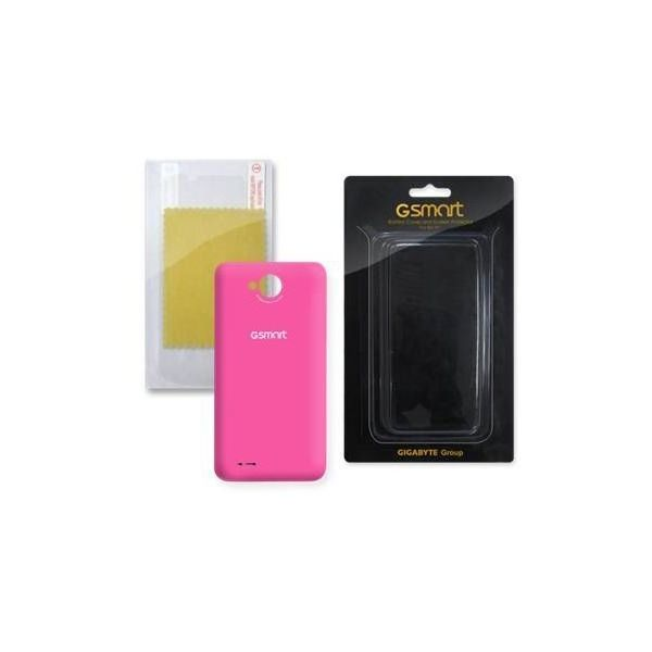 RIO R1 BATTERY COVER (PINK) + SCREEN PROTECT LABEL