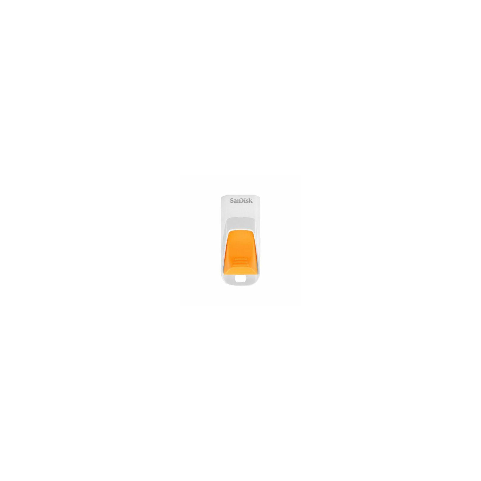 SanDisk Cruzer Edge 8GB White/Orange SDCZ51W-008G-B35O USB Memory stick