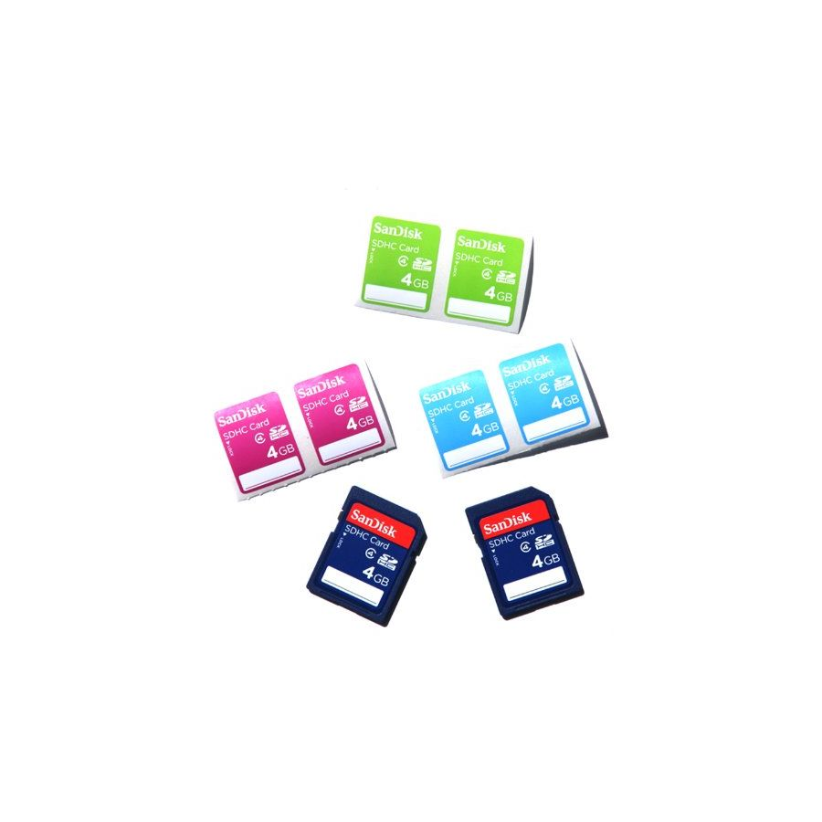 SanDisk SDHC 4GB 15MB/s Class 4 Speed 2-Pack with labels  SDSDB2L-004G-B35 memorijska kartica