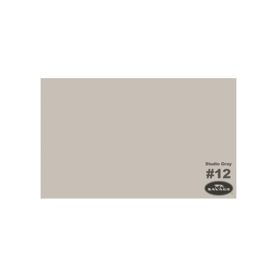 Savage siva (Studio Gray) papirnata pozadina 1,36x11m
