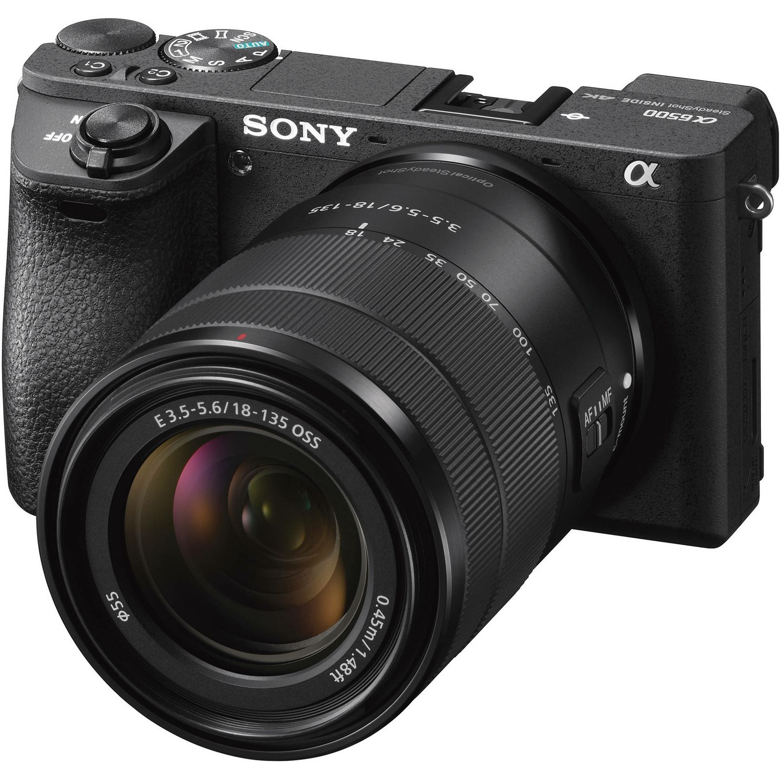 Sony Alpha a6500 + 18-135 f/3.5-5.6 OSS KIT Black Mirrorless Digital Camera crni bezrcalni digitalni fotoaparat i allround objektiv SEL18135 18-135mm F3.5-5.6 ILCE-6500MB ILCE6500MB ILCE6500MB.CEC