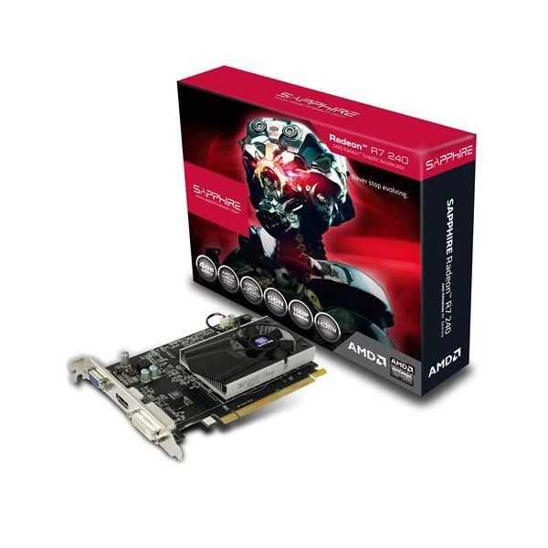 VC SAPPHIRE AMD Radeon R7 240 4G DDR3 PCI-E HDMI / DVI-D / VGA WITH BOOST, 730MHz (780MHz) / 900Hz, 128-bit, 1 slot active, , LITE