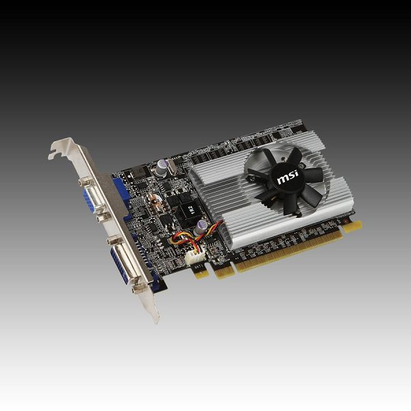 Video Card MSI GeForce 210 GDDR2 512MB/64bit, 589MHz/800MHz, PCI-E 2.0 x16,DVI,VGA, VGA Cooler, Retail