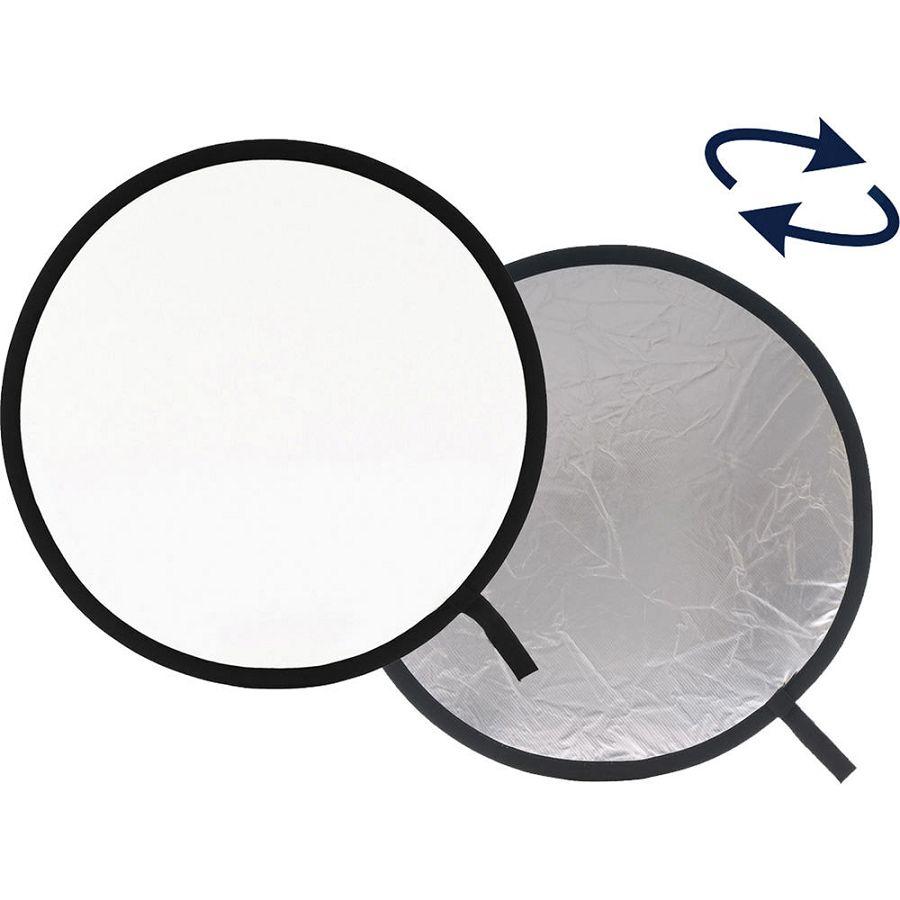 Weifeng dosvjetljivač 2u1 120cm bijeli srebreni disk reflektirajući